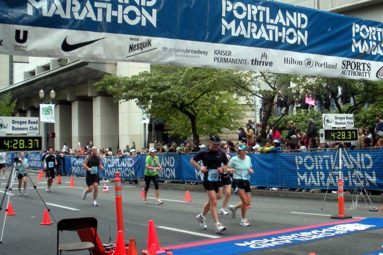 Portland Marathon Finish Line