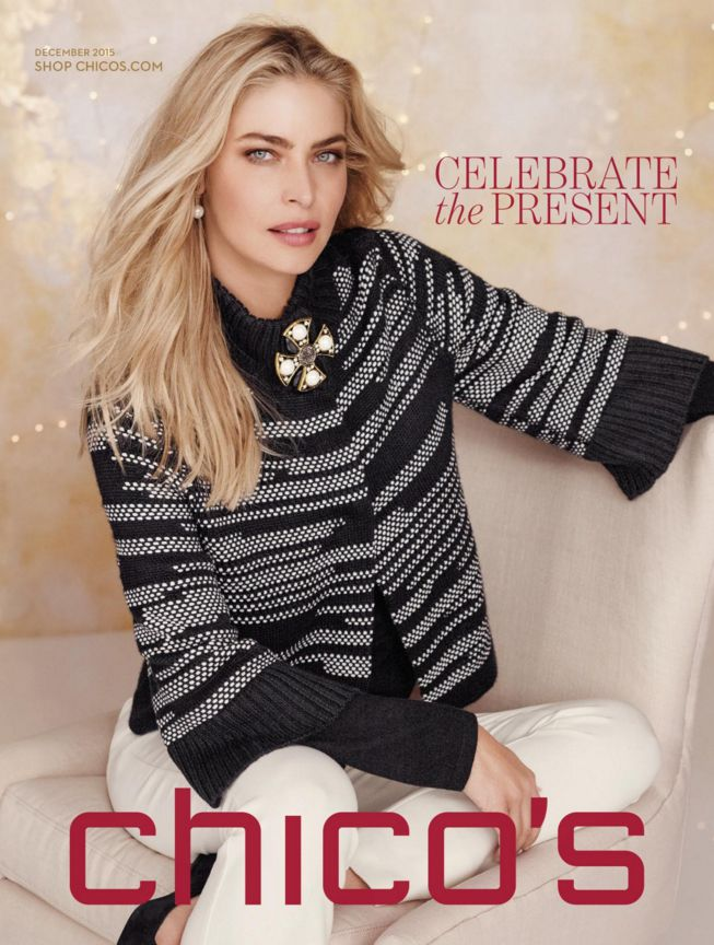 The cover of the latest Chico's catalog.