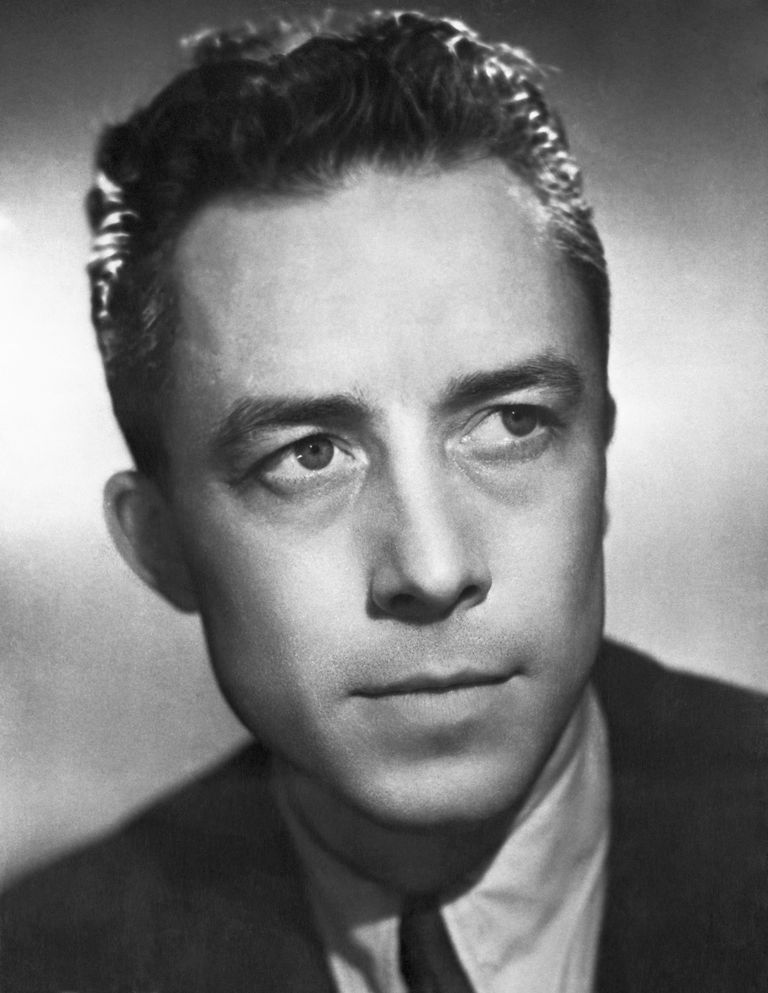 A portrait of Albert Camus.