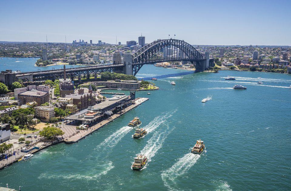 Sydney's harbor and circular quay.