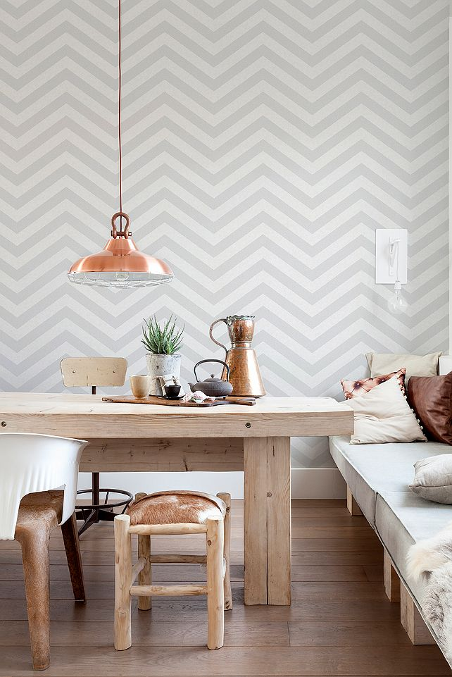 10 beautiful rooms following the geometric wallpaper trend for Home wallpaper trends