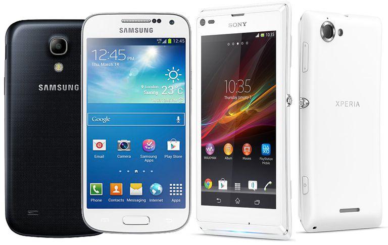 Samsung Galaxy S4 mini y el Sony Xperia L
