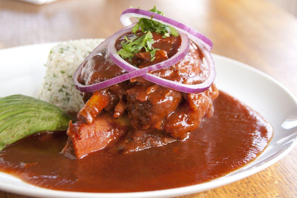 Braised pork shank in adobo sauce