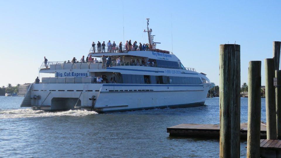 Passengers aboard the Key West Express Big Cat