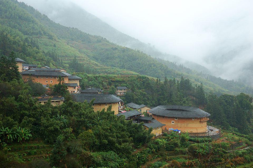 Hakka Tulou Traditional Chinese Housing in Fujian,China