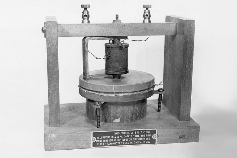 Alexander Graham Bell's first telephone