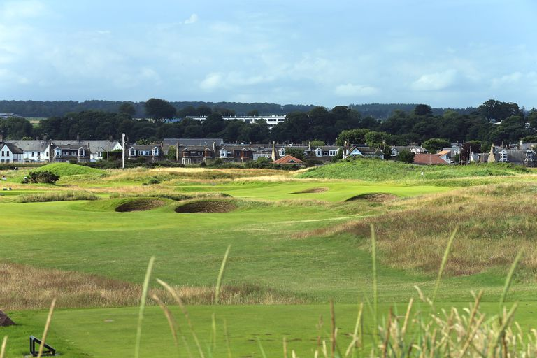 A scene from Carnoustie, one of the golf courses included in the 'Open Rota.'