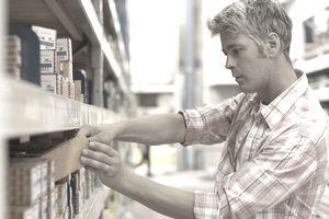 man buying nails