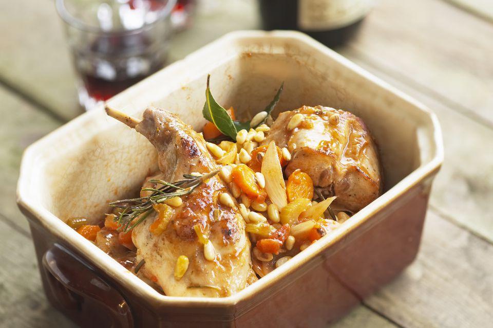 Rabbit leg stew