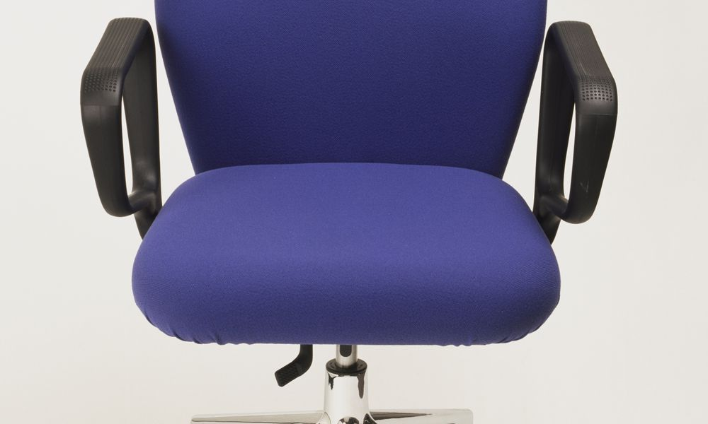 Office chair with arm rests.