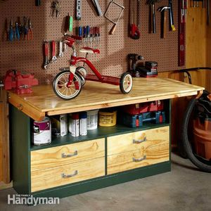Garage Workbench Plan From The Family Handyman