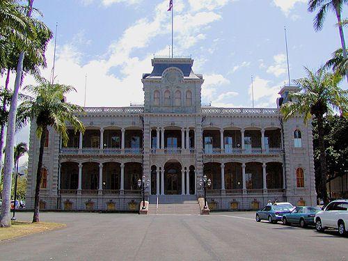 'Iolani Palace, Honolulu, O'ahu, Hawaii