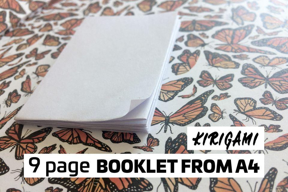 easy kirigami booklet tutorial 01
