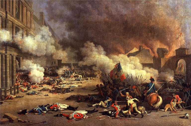 the best books on the french revolution painting of storming of the tuileries on 10 aug 1792 during the french revolution