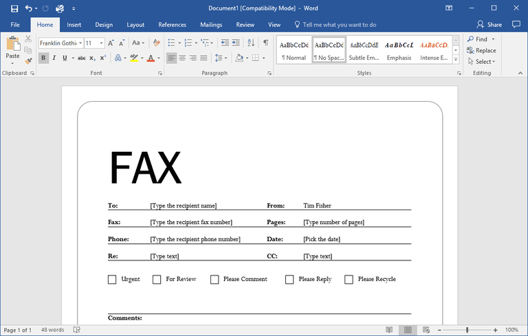 7 Free Online Fax Services Updated October 2017 – Ms Word Fax Template