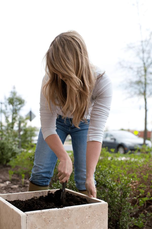 DIY Stone Tiles Planter