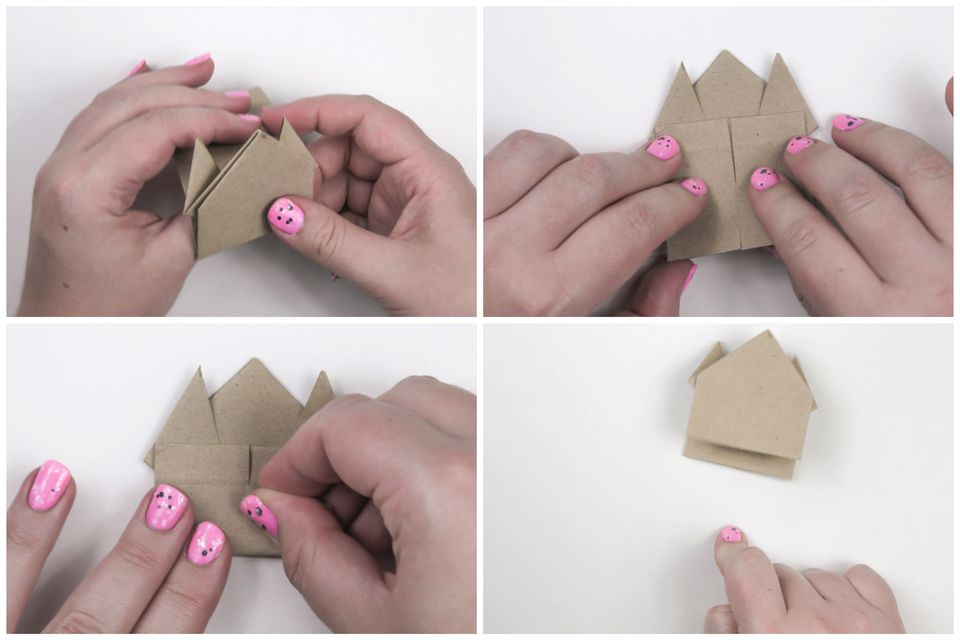 how to make origami jumping frog step by step