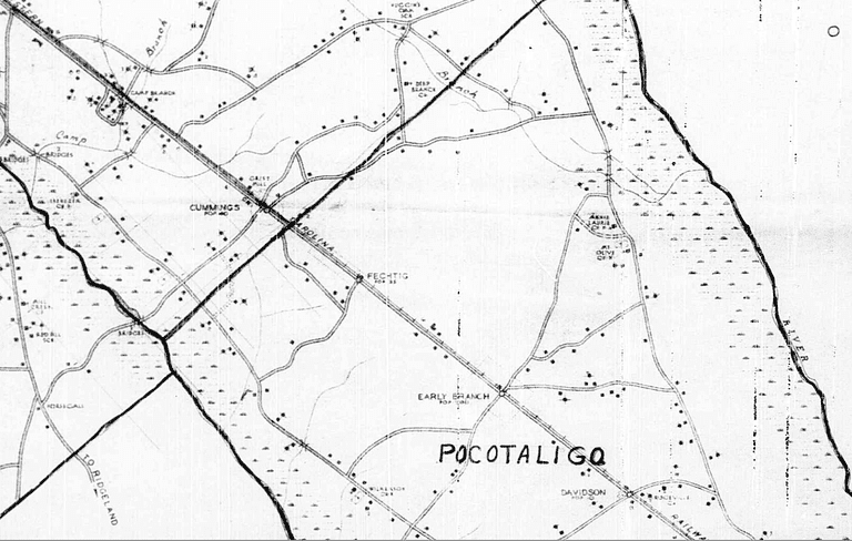 Hampton County SC 1940 Enumeration District Map - FamiySearch
