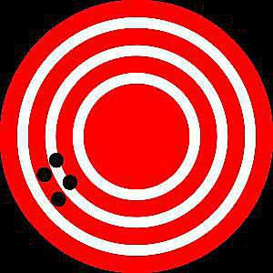 This target has been struck with a high degree of precision, yet a low degree of accuracy.