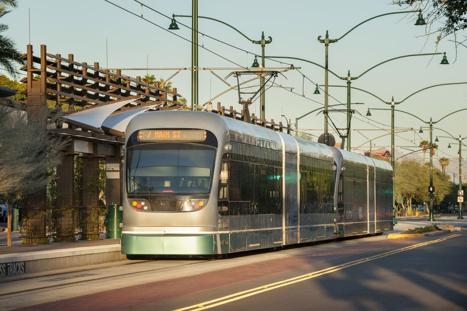 Light Rail Train at Station