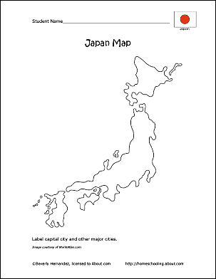 Japan Wordsearch Crossword Puzzle And More - Japan map drawing