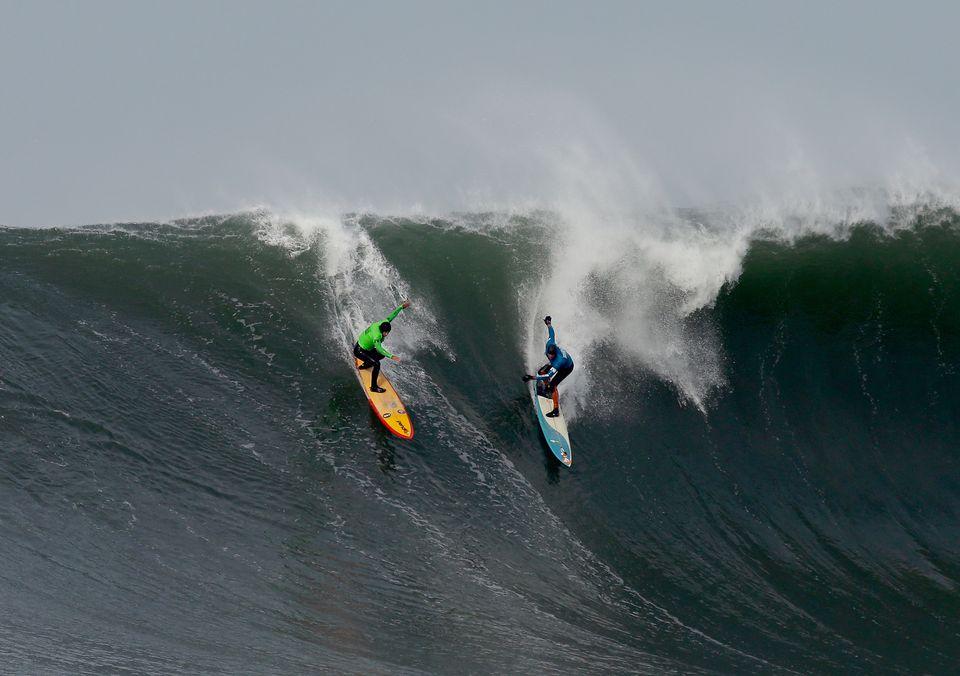 Competitors at the Mavericks Surf Contest