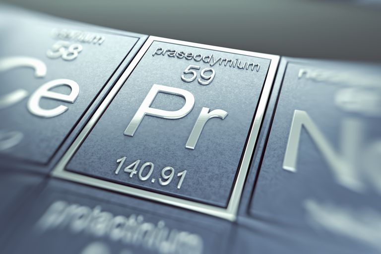 Praseodymium is one of the rare earth elements.