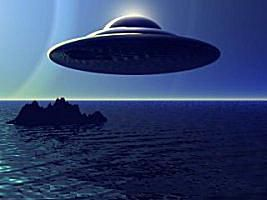 Depiction of UFO at Sea