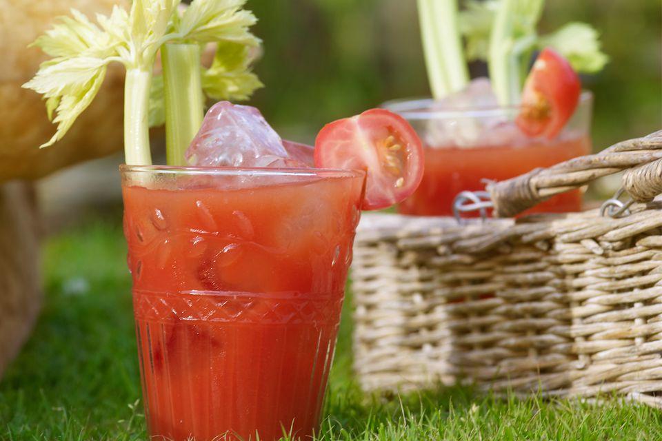 Tomojito Cocktail with Tomato Vodka