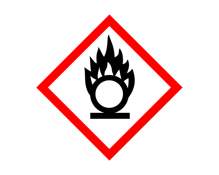 This is the hazard symbol for oxidants.