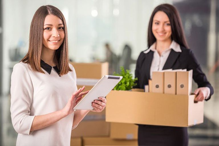 Business Women Moving their Office
