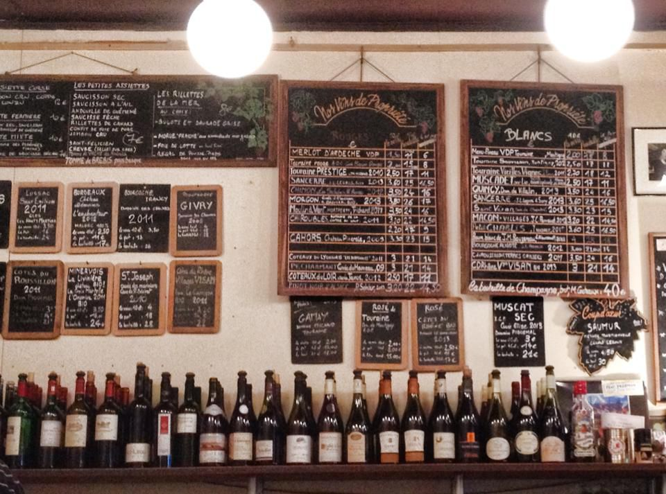 The Baron Rouge wine bar is located in the midst of Paris' most lively market streets.