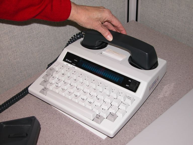 TTY with telephone receiver