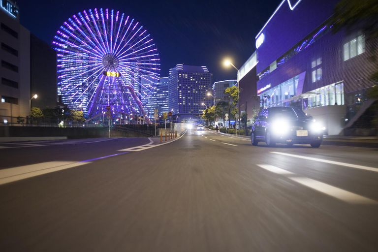 Night driving at Yokohama.