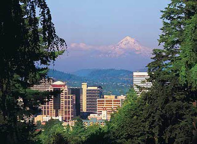Portland Skyline with Mt. Hood in the Distance