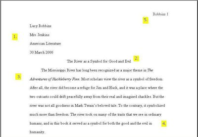proper formatting of song titles in written documents sample pages in mla format