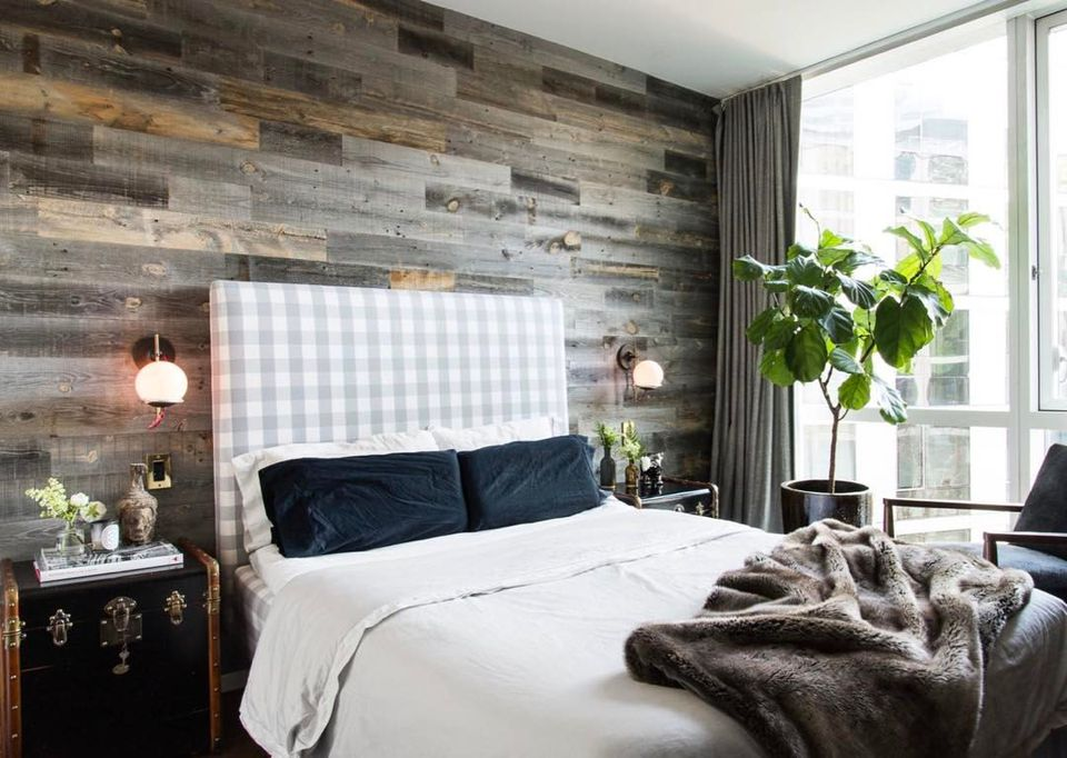 peel and stick wood accent wall - Accent Wall Design Ideas