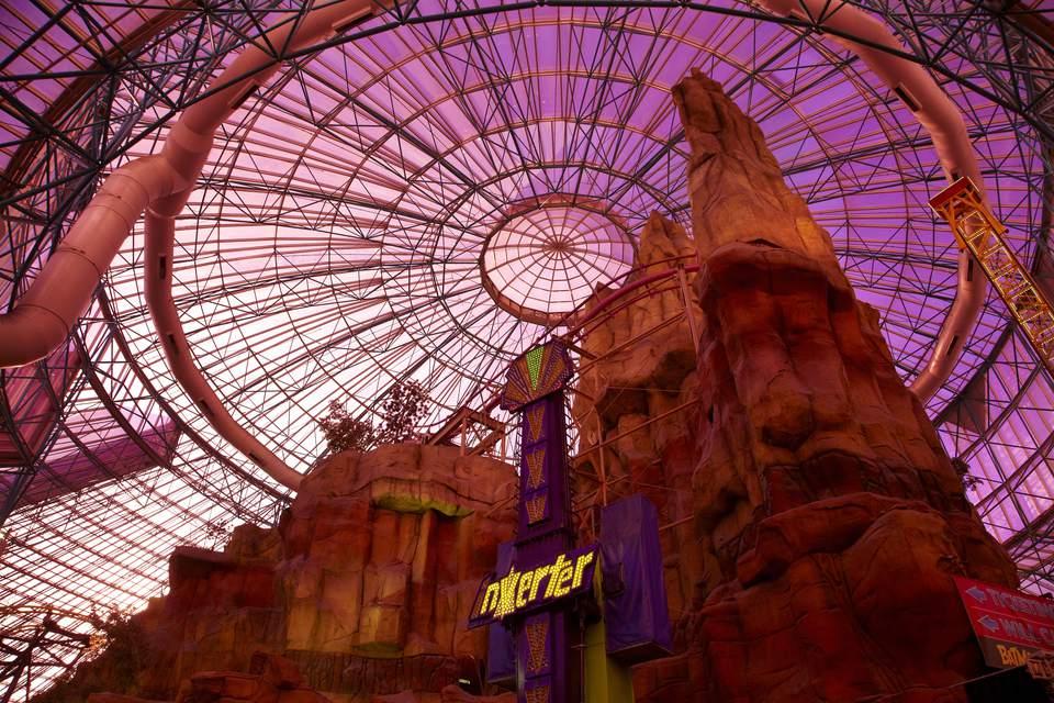 Inside the Adventuredome in Las Vegas