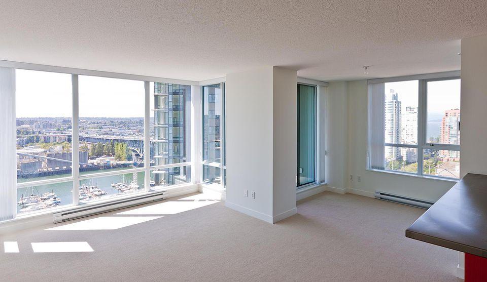 New, empty condo, Vancouver