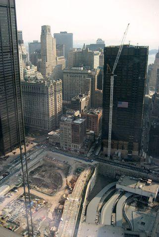 View of Ground Zero from 7 World Trade Center