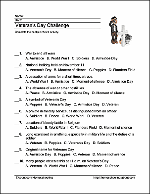 This is a photo of Unusual Veterans Day Worksheets Printable