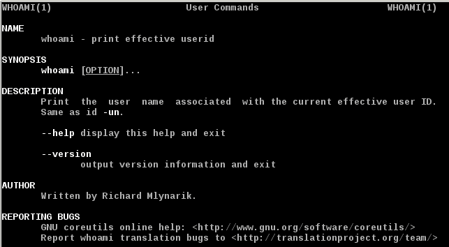 Linux whoami Command
