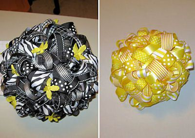 How to Make a Kissing Ball Using Ribbon