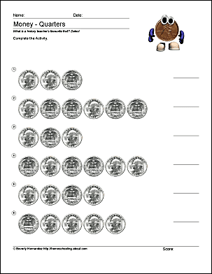 Probability Worksheets Year 8 Pdf Math And Money Worksheets  Counting Dimes 1040 Tax Computation Worksheet Pdf with Graphing Linear Equations Worksheet Pdf These Counting Quarters Worksheet Will Help Students Learn The Next  Mostimportant Step In Counting Change Understanding That Four Quarters  Make A Dollar Holt Physics Worksheets