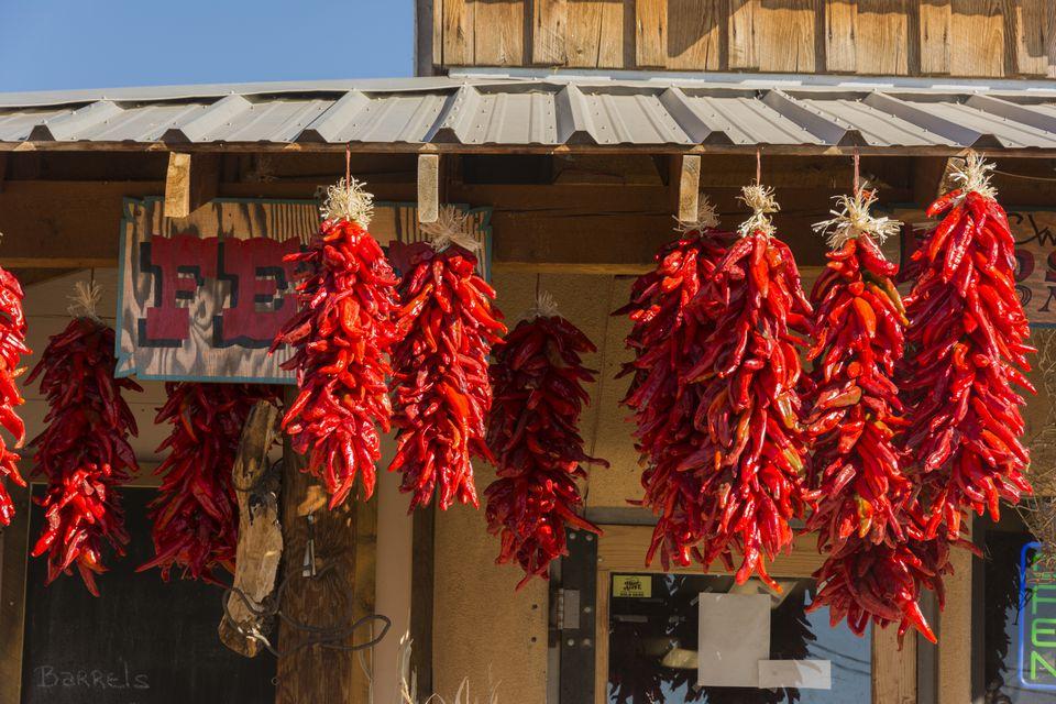 New Mexico, Albuquerque, Old Town, chili ristras