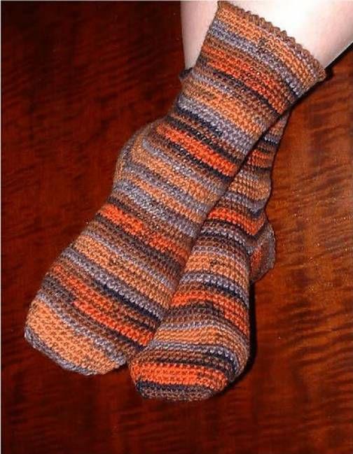 Basic Toe-Up Crochet Socks Free Pattern