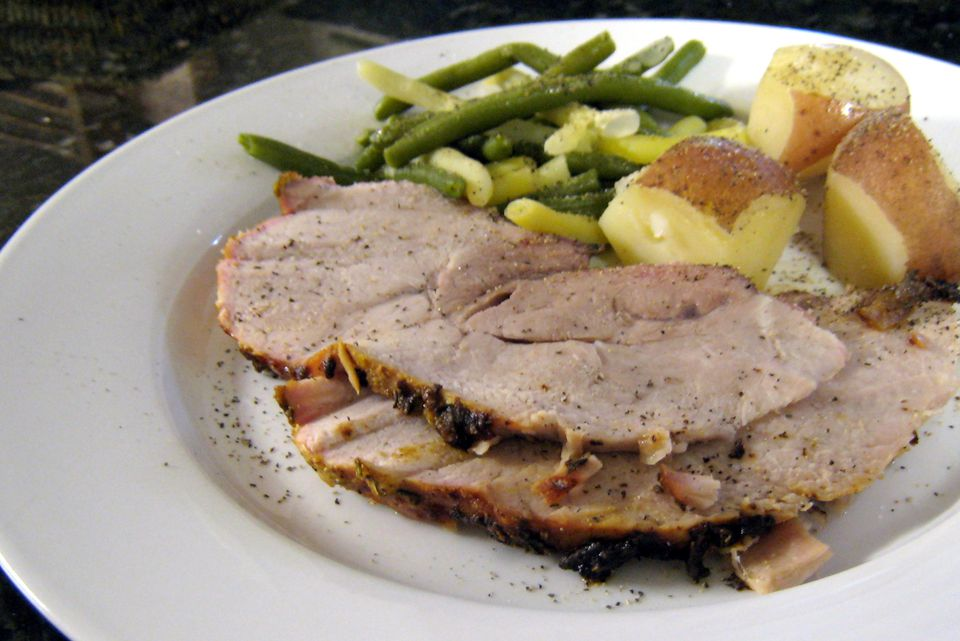 Pork Loin with Mustard Rub