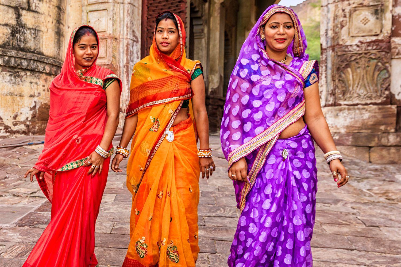 Image result for women wearing sari