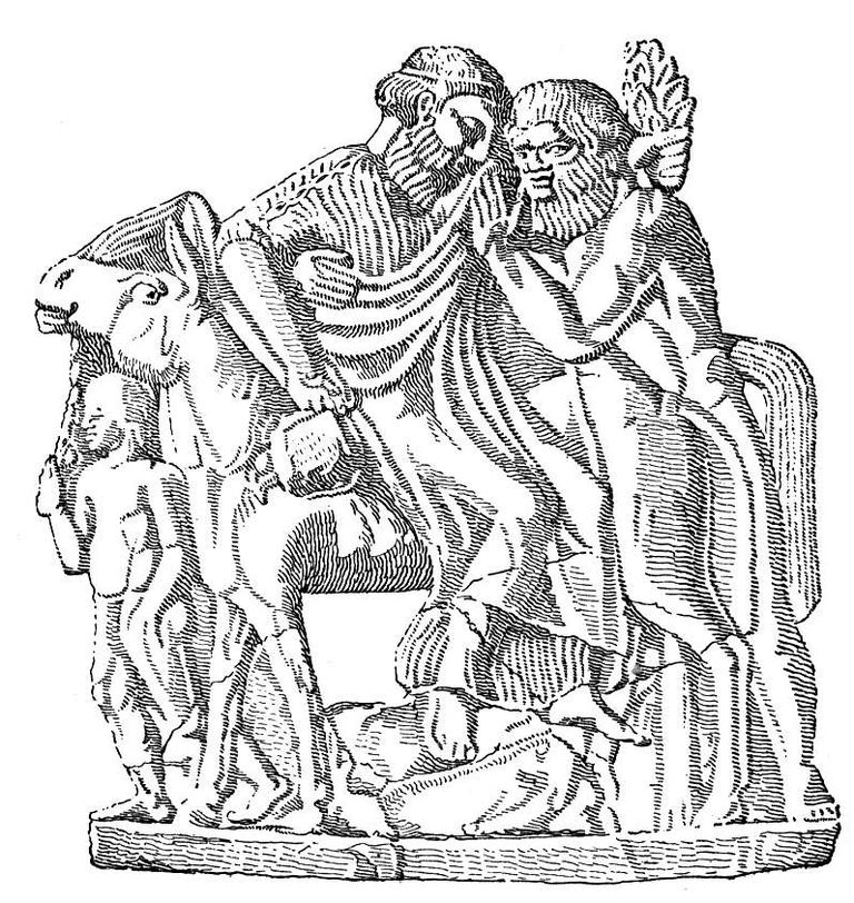 Dionysus and a Satyr