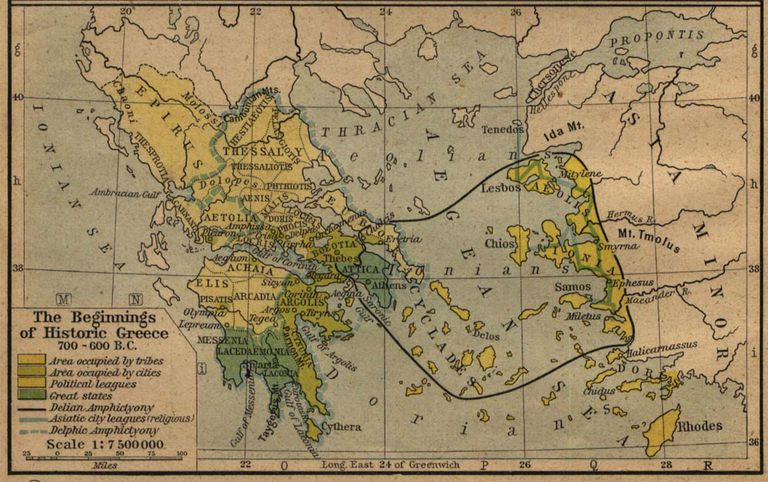 A Group Of Maps Of The Ancient Superpower Of Greece - Greece maps